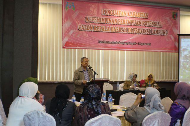 Lampung Perkuat Kapasitas Perempuan Sebagai Potensial Calon Kepala Daerah
