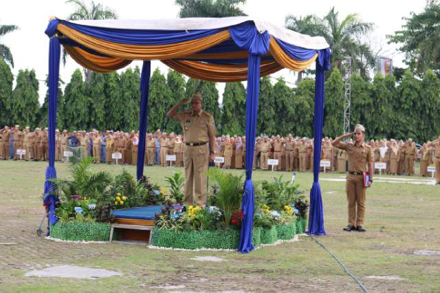 Pemprov Lampung Peringati Hari Bhakti PU Ke-71 Degan Kerja Nyata Membangun Infrastruktur Untuk Bangsa