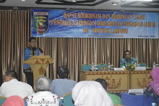 Pemprov Lampung Terus Tingkatkan Jaringan JDIH