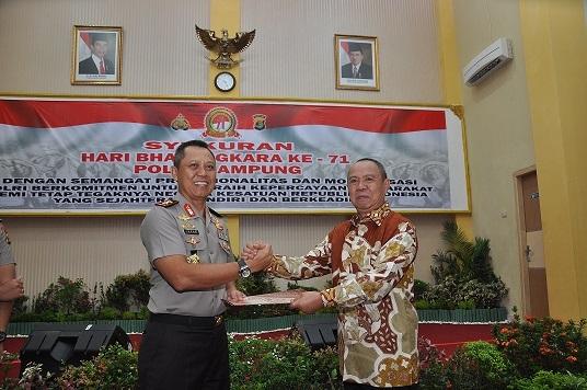 HUT Bhayangkara Ke 71, Pemprov Hibahkan Tanah Ke Polda Lampung