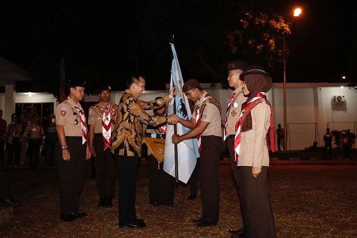 Gubernur Ridho Lepas 360 Pramuka Lampung ke Raimuna Nasional XI Cibubur
